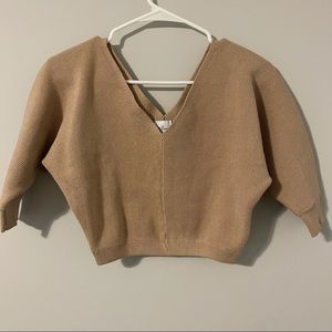 POLLY SWEATER CROP TOP
